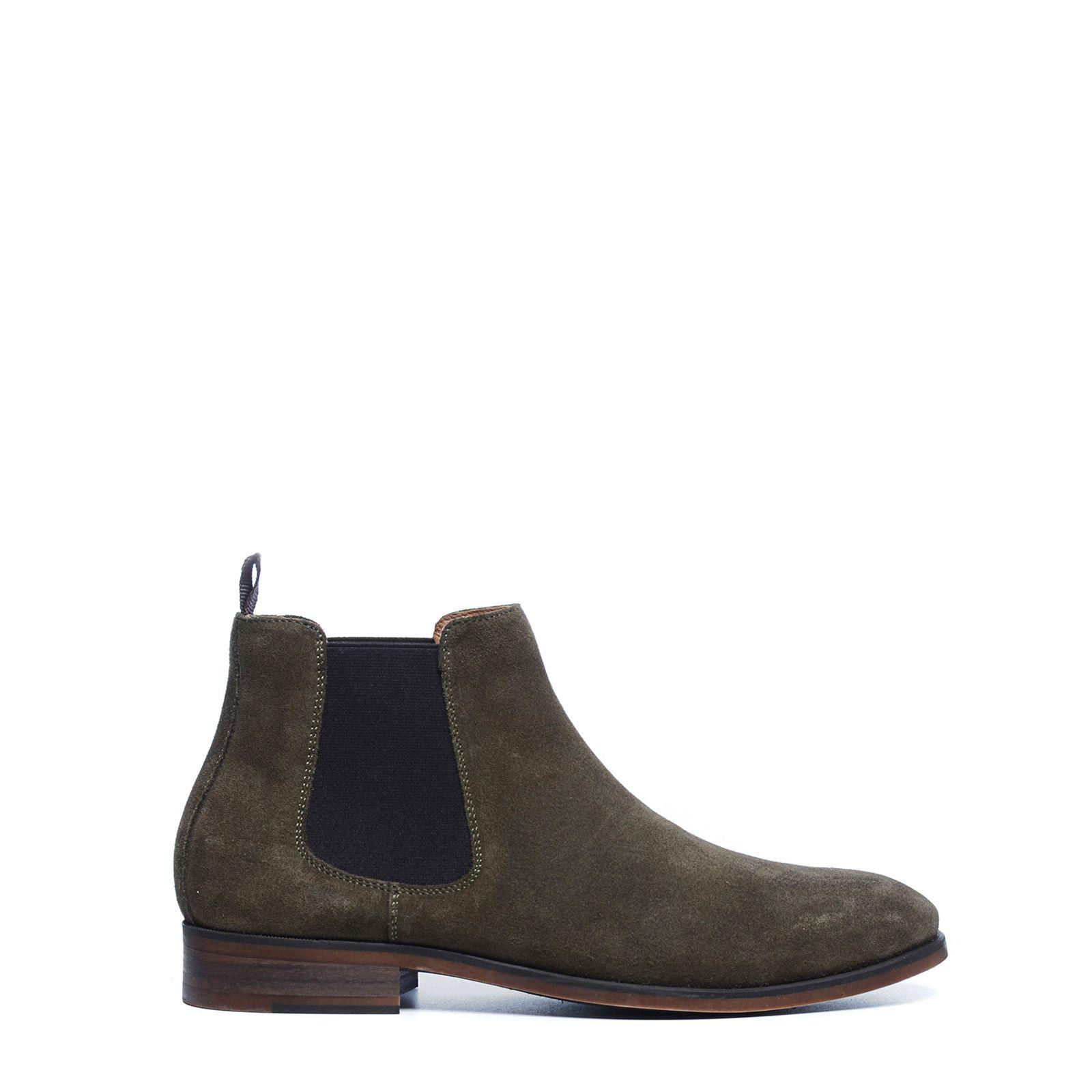 Cognacfarbene Chelsea Boots mit Schlangenmuster
