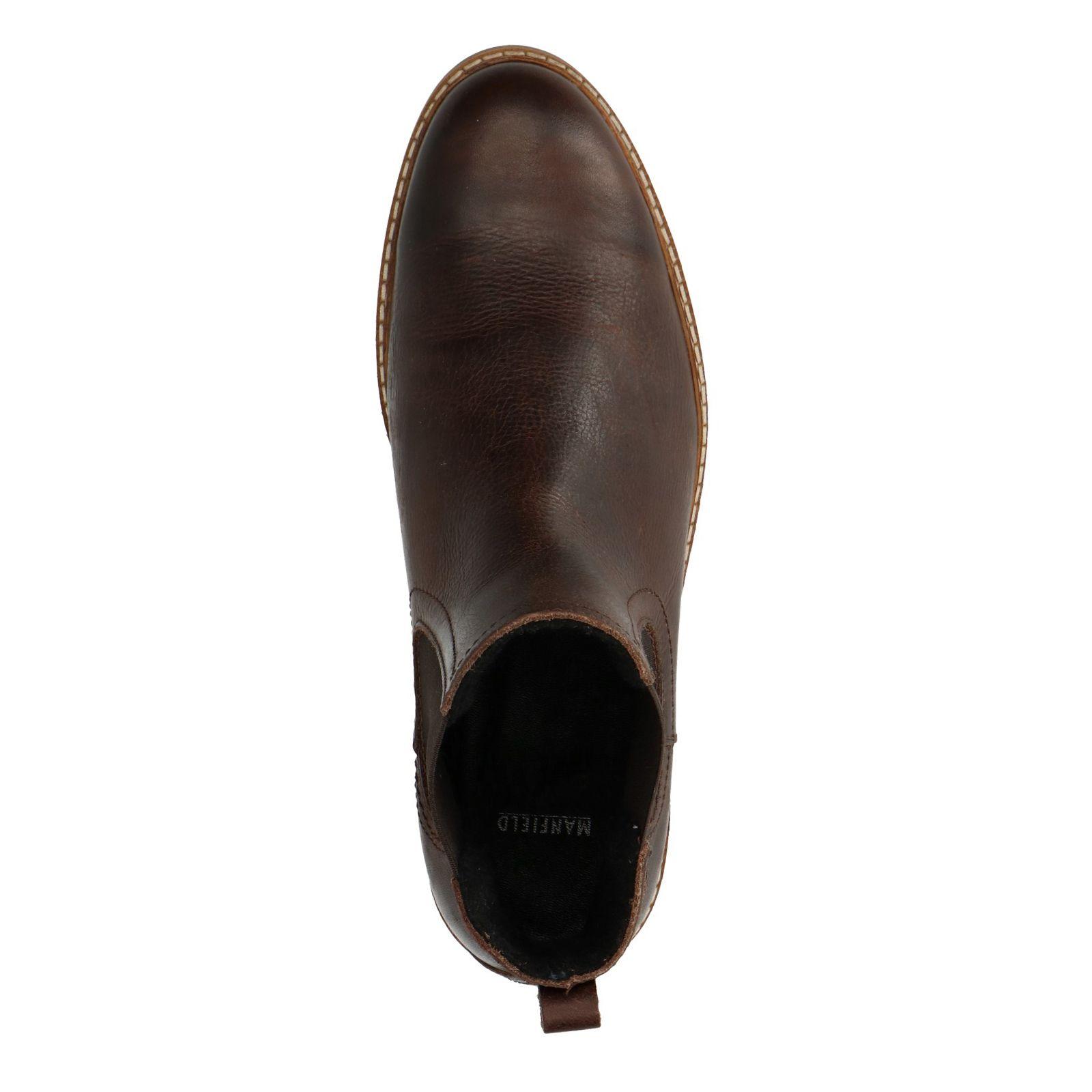 bfbcb5745277b4 Manfield Dunkelbraune Chelsea Boots. - 20%. prev