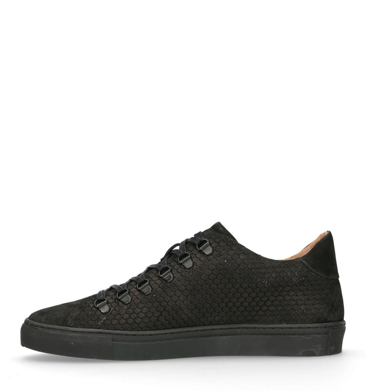 best loved d3fb3 8da6b Schwarze Sneaker mit Schlangenmuster