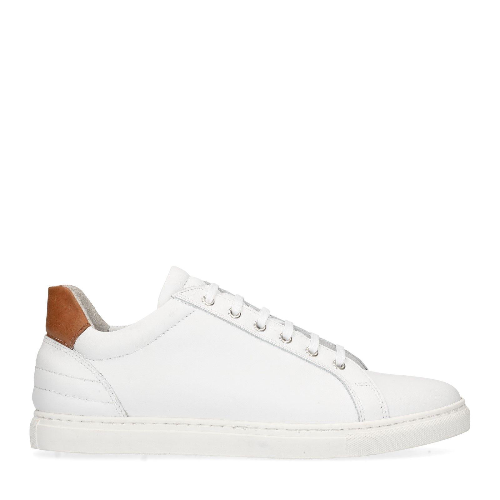 2f5ca7ca7e8433 Weiße Leder-Sneaker