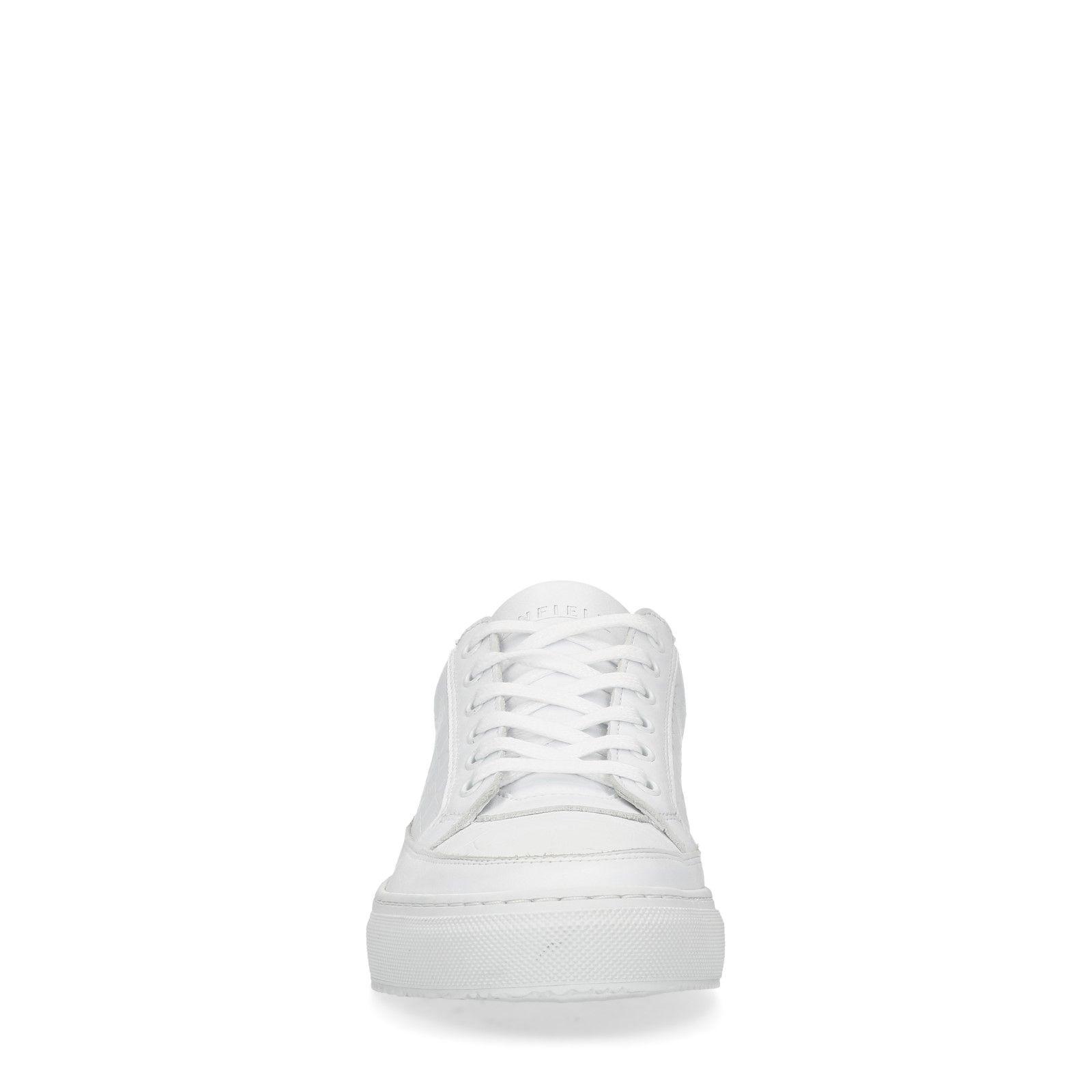 287db8fac8d201 Manfield Weiße Leder-Sneaker. prev