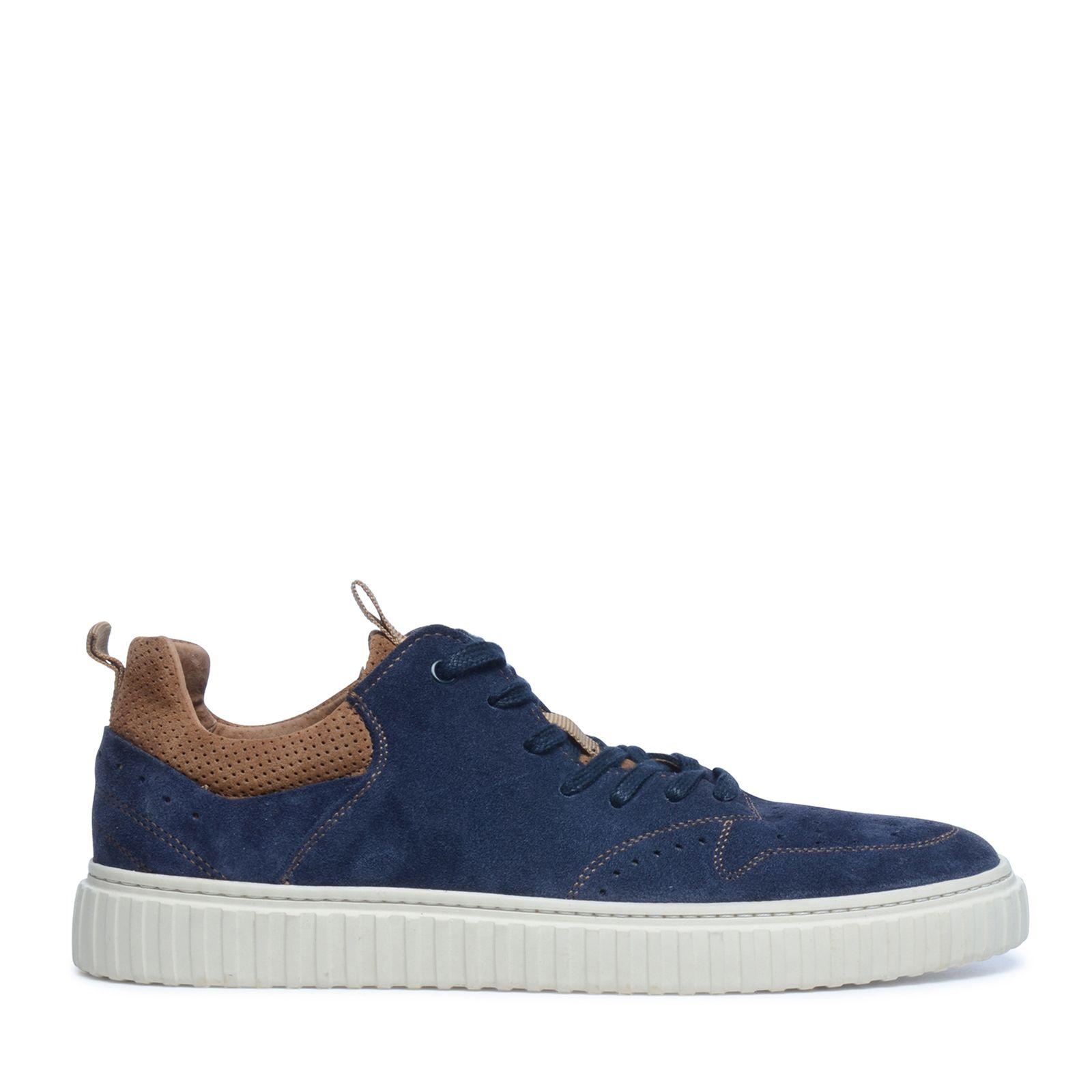quality design d6ca1 11074 Dunkelblaue Veloursleder-Sneaker