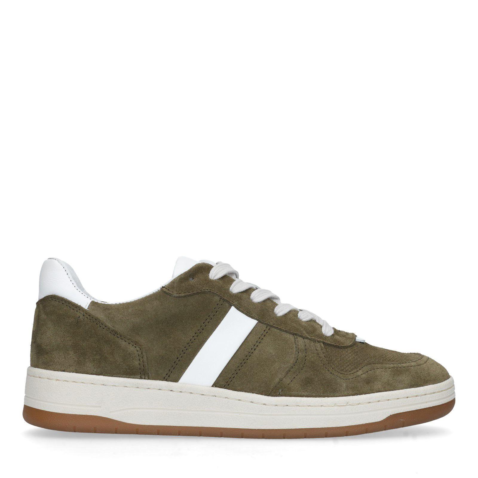 buy online 457b5 9eff4 Grüne Veloursleder-Sneaker