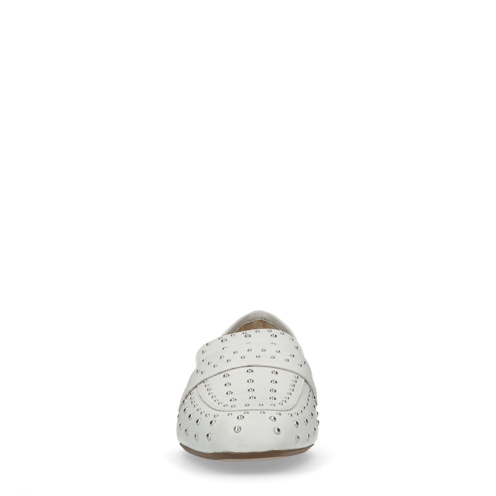 98927b6282d Manfield Witte loafers met studs. sale. prev
