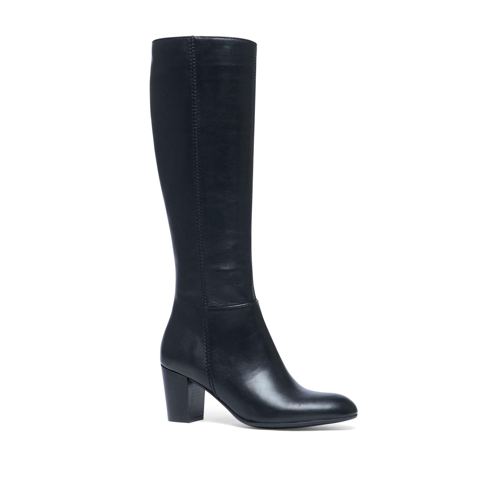 Zwarte hoge laarzen met hak Dames | MANFIELD