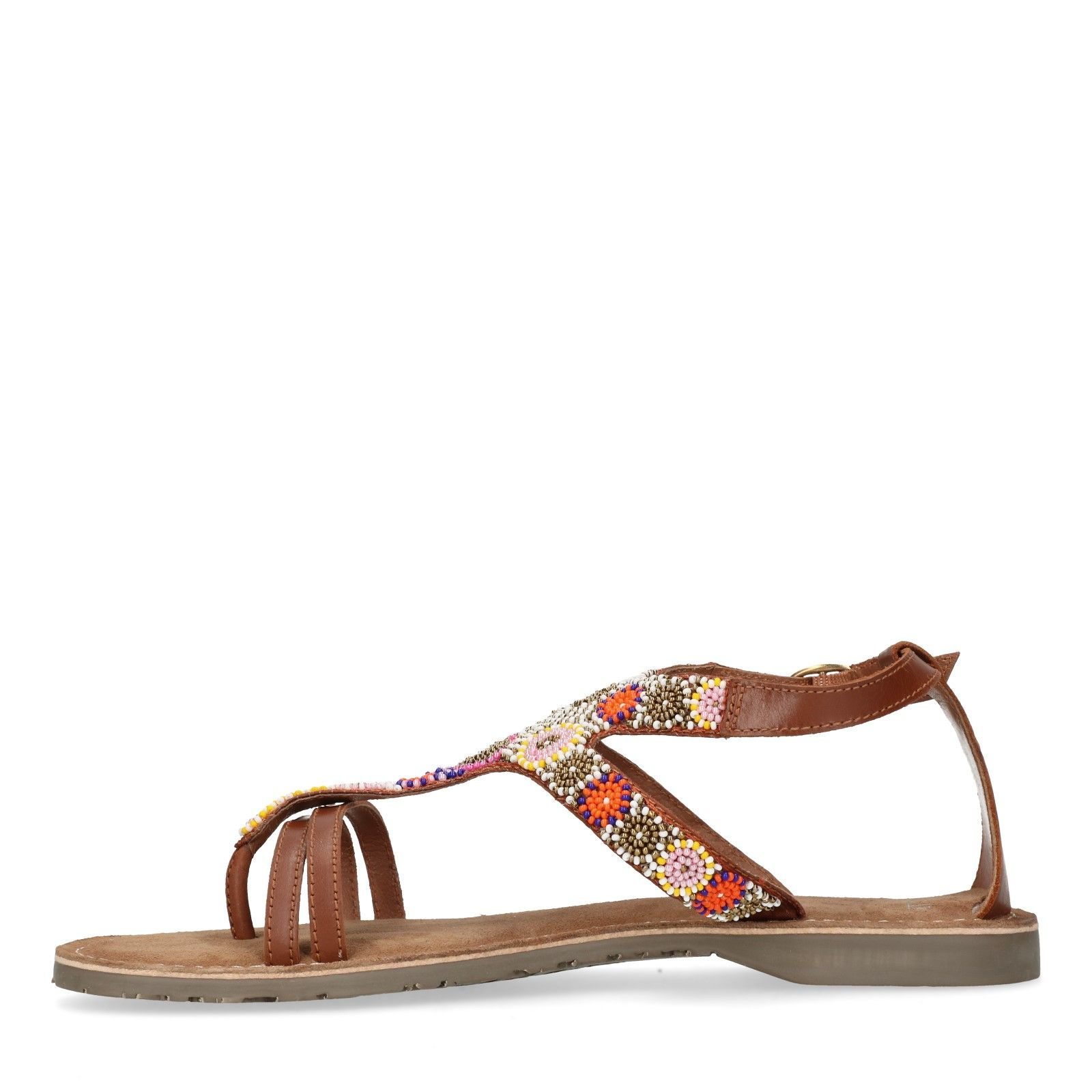 Verrassend Leren sandalen met kralen - Dames | MANFIELD HJ-27