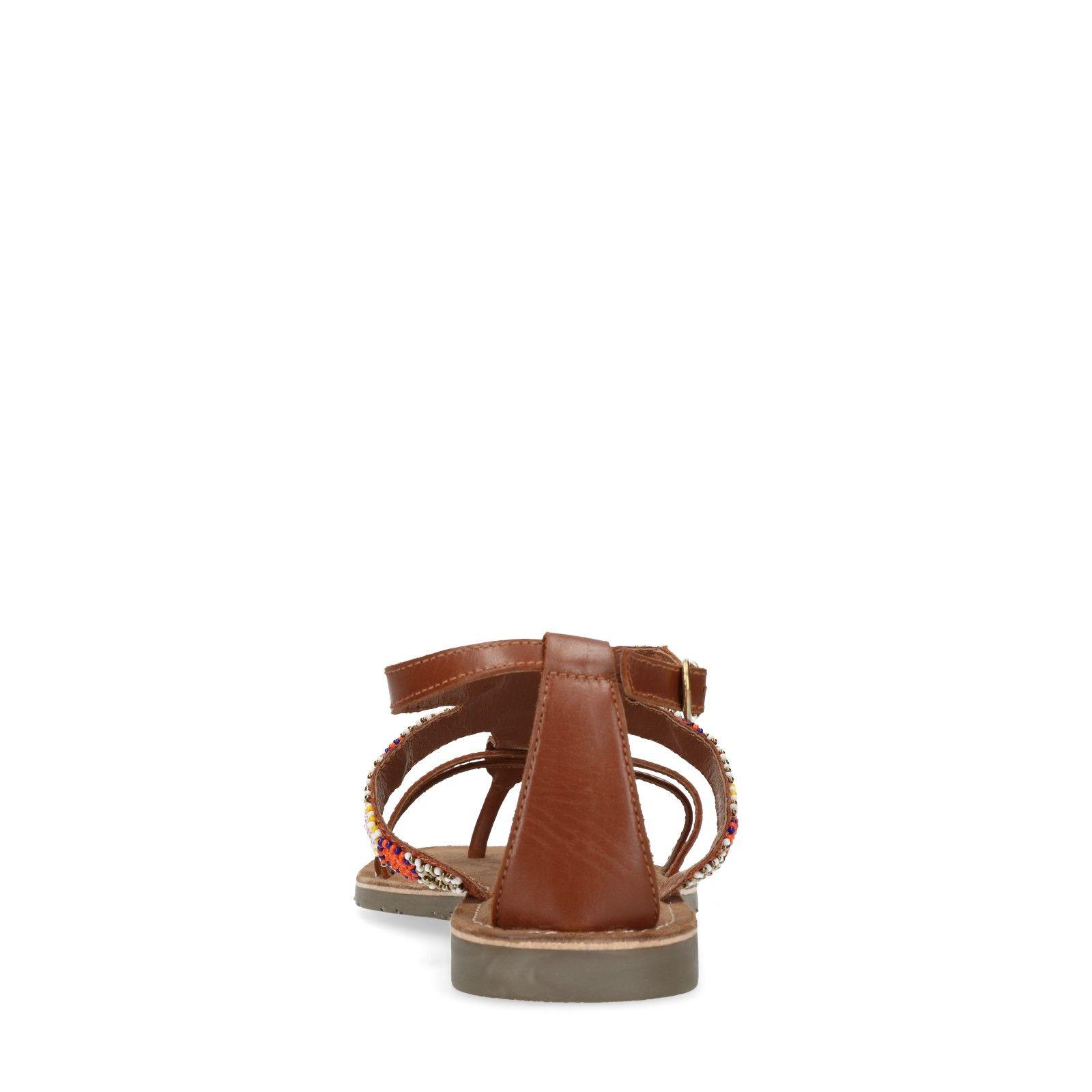 Onwijs Leren sandalen met kralen - Dames | MANFIELD OW-44