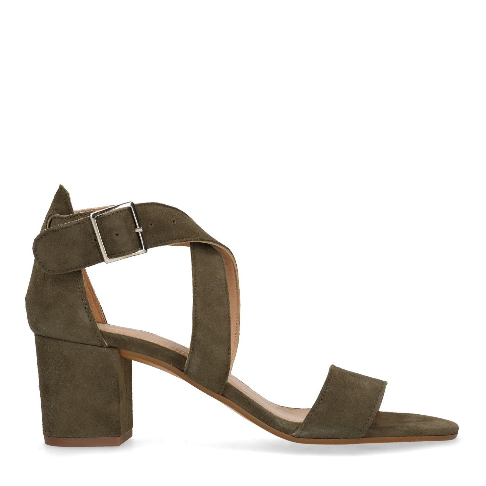 ad8553474 Groene sandalen met hak - Dames   MANFIELD