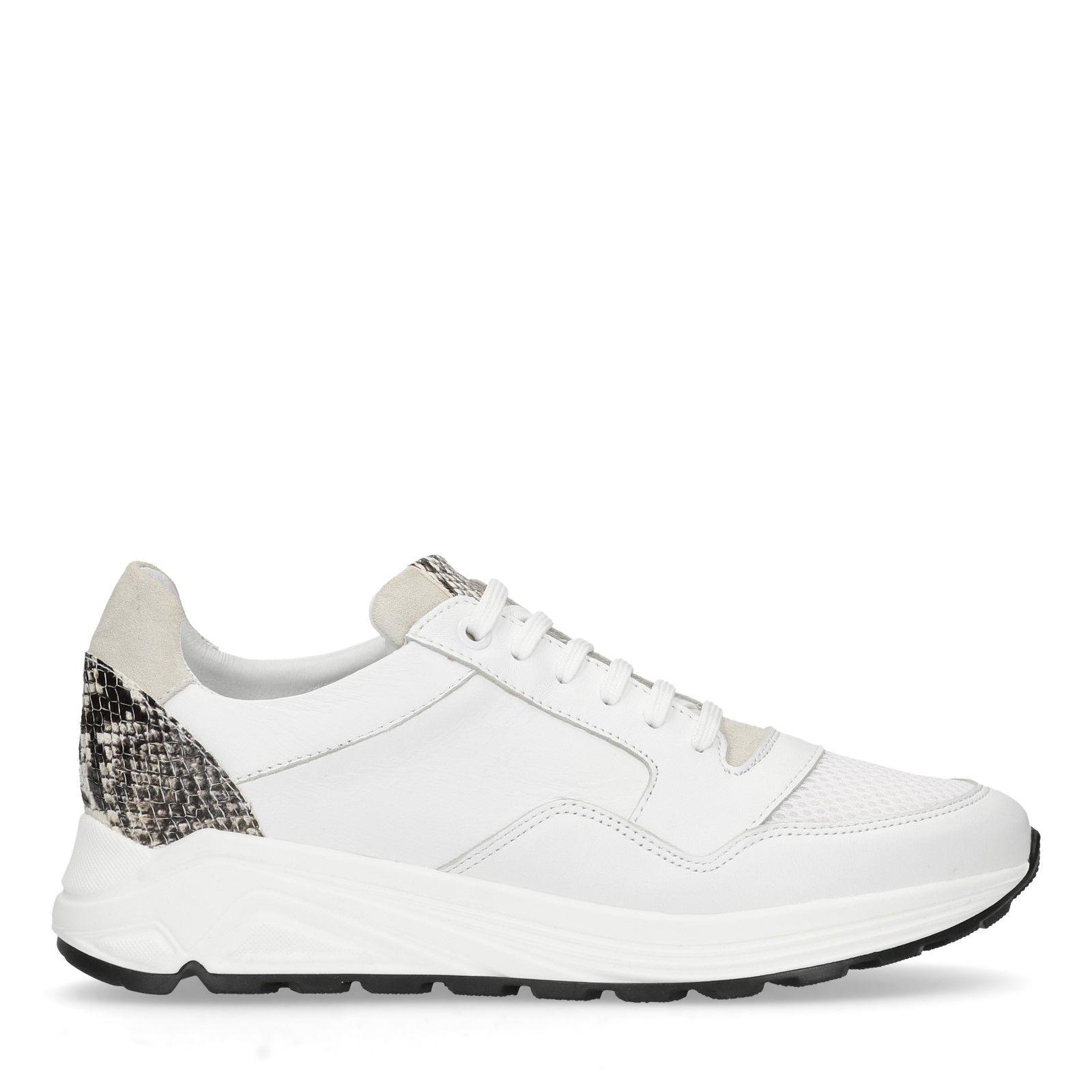 witte leren schoenen dames