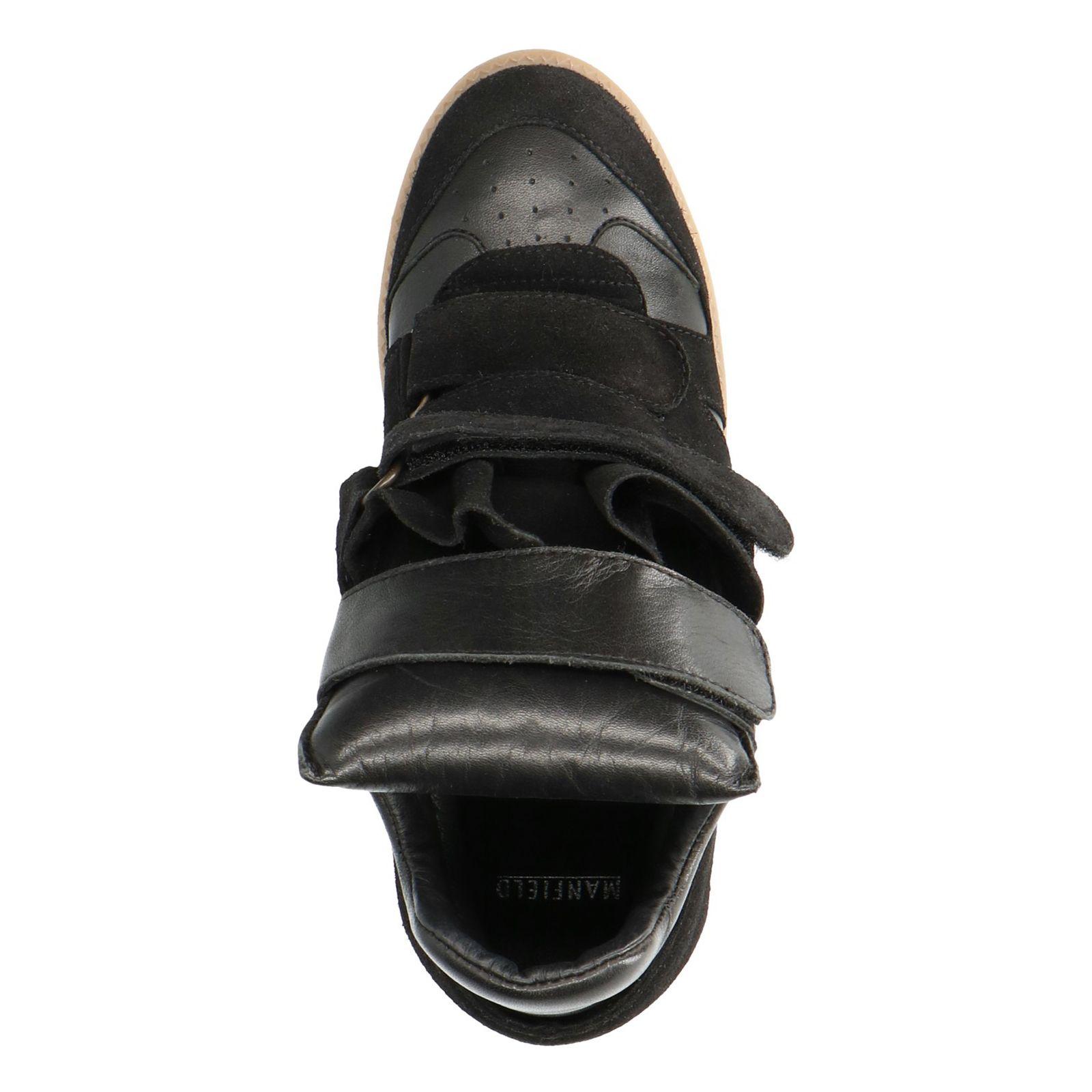 Zwarte wedge sneakers - Dames   MANFIELD