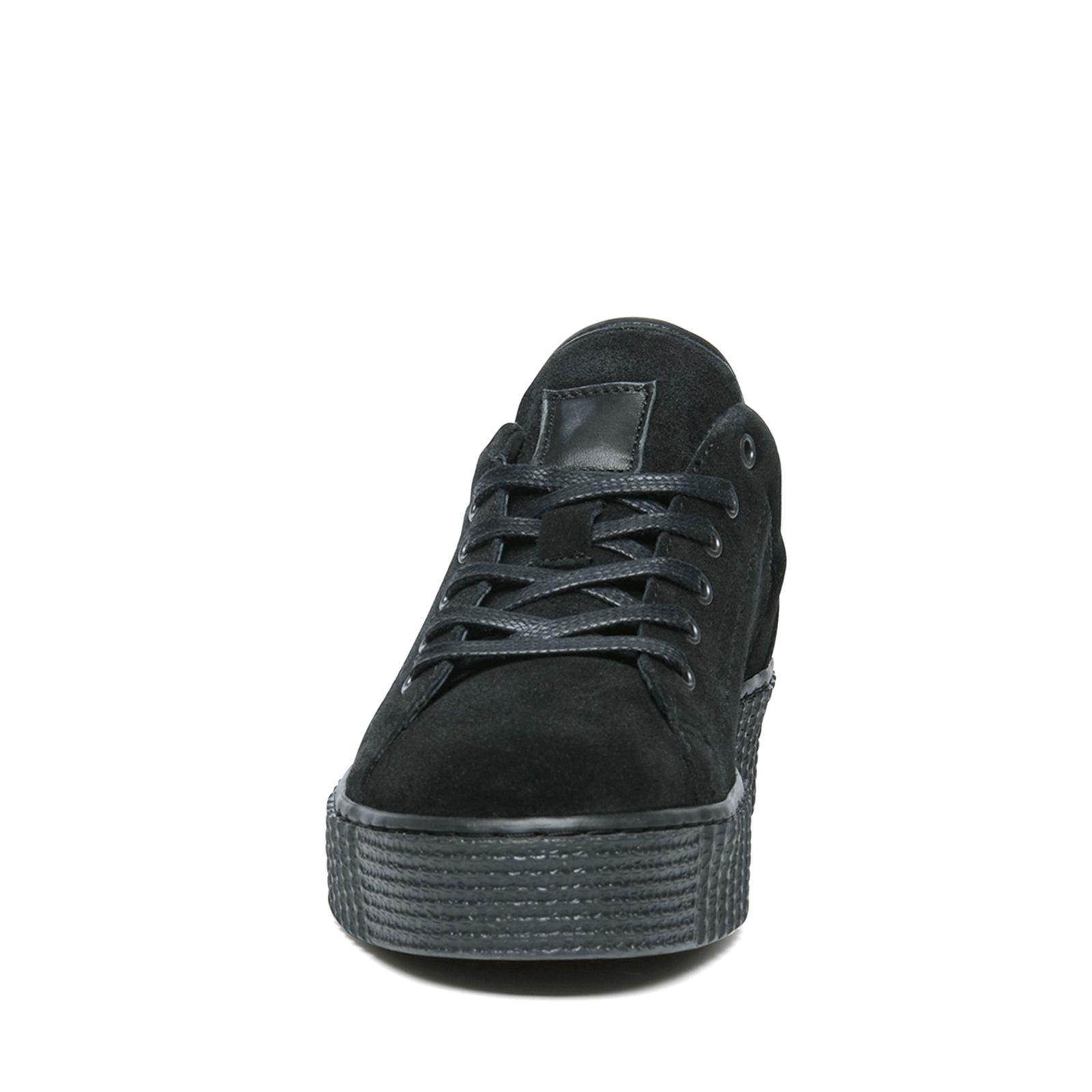 Manfield Sneakers Zool Zwarte Dames Platform nPWxOzz
