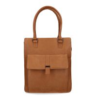 18e6650a273 Manfield Cognac leren shopper met laptopvak € 119, Shop nu >