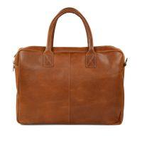 264547cb306 Manfield Cognac laptop tas leer € 109, Shop nu >