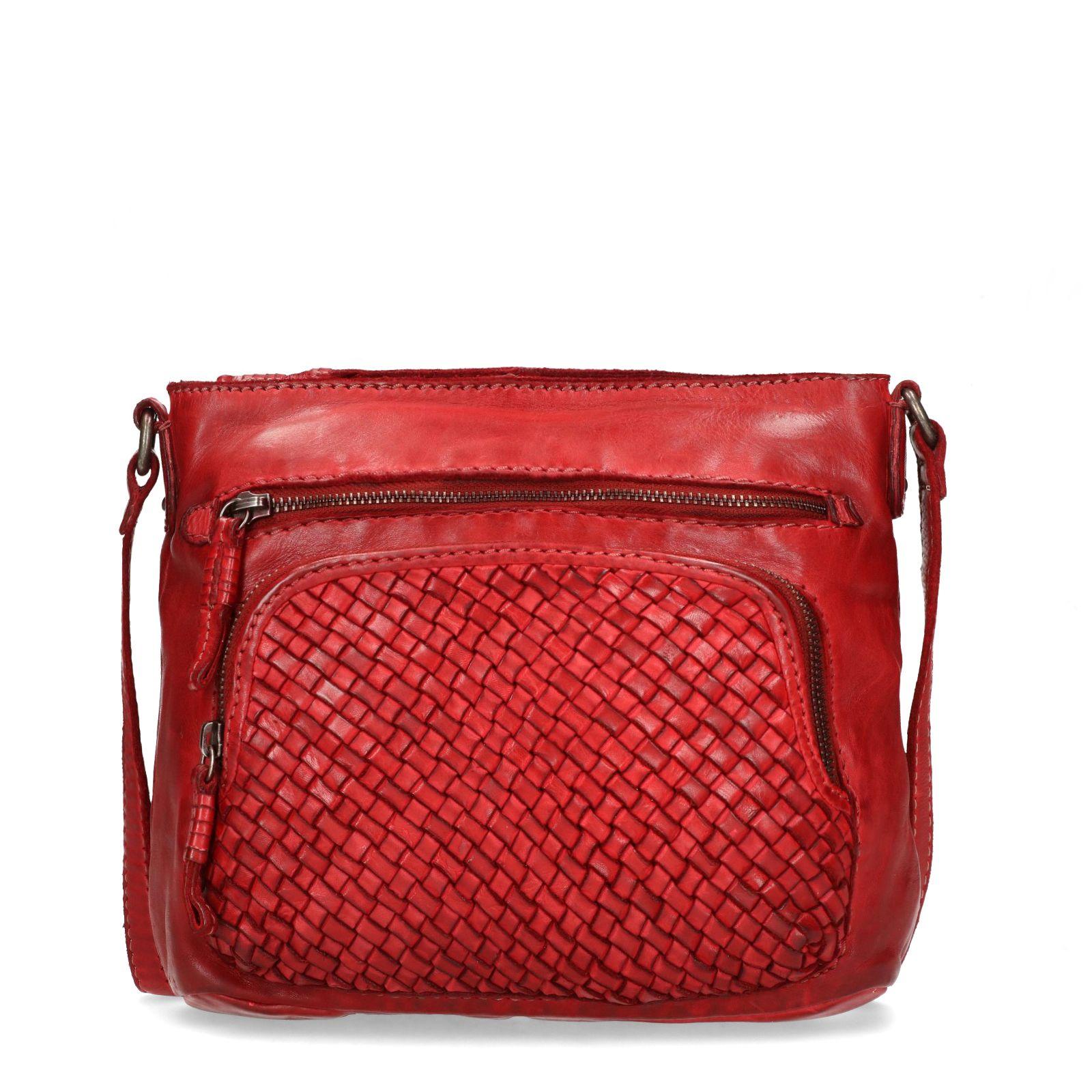 3e901d73f0a Rode schoudertas met rits - Tassen | MANFIELD