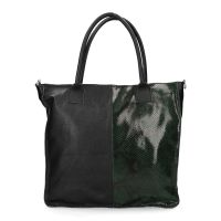 de861d13a8f sale Manfield Zwarte shopper met snakeskin € 79, € 55, Shop nu >
