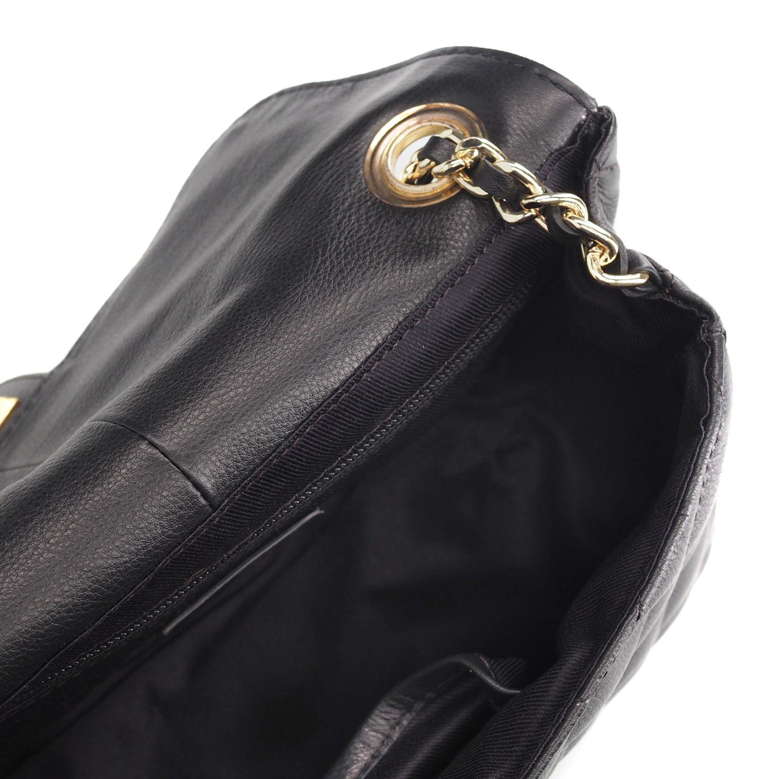 Leren Schouder tas Chains zwart zwarte black dames leder tas