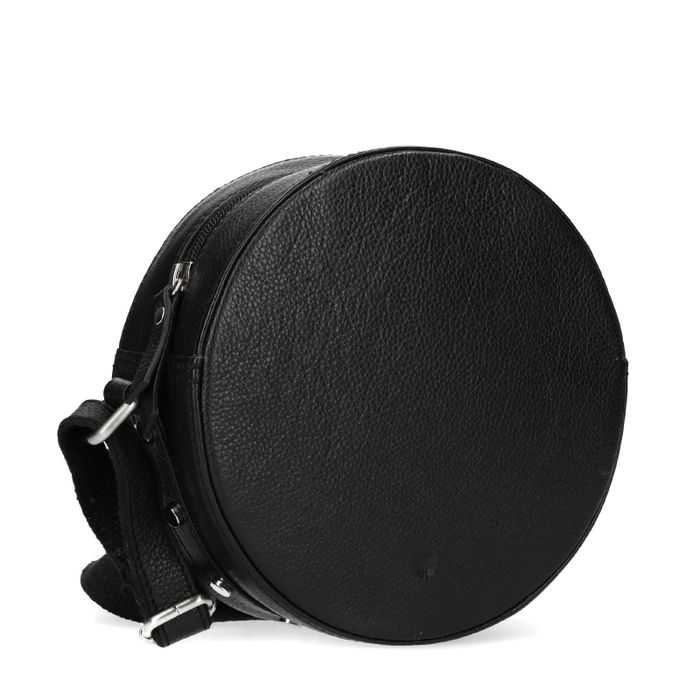 2a1464818cd Zwart rond schoudertasje met studs - Tassen   MANFIELD