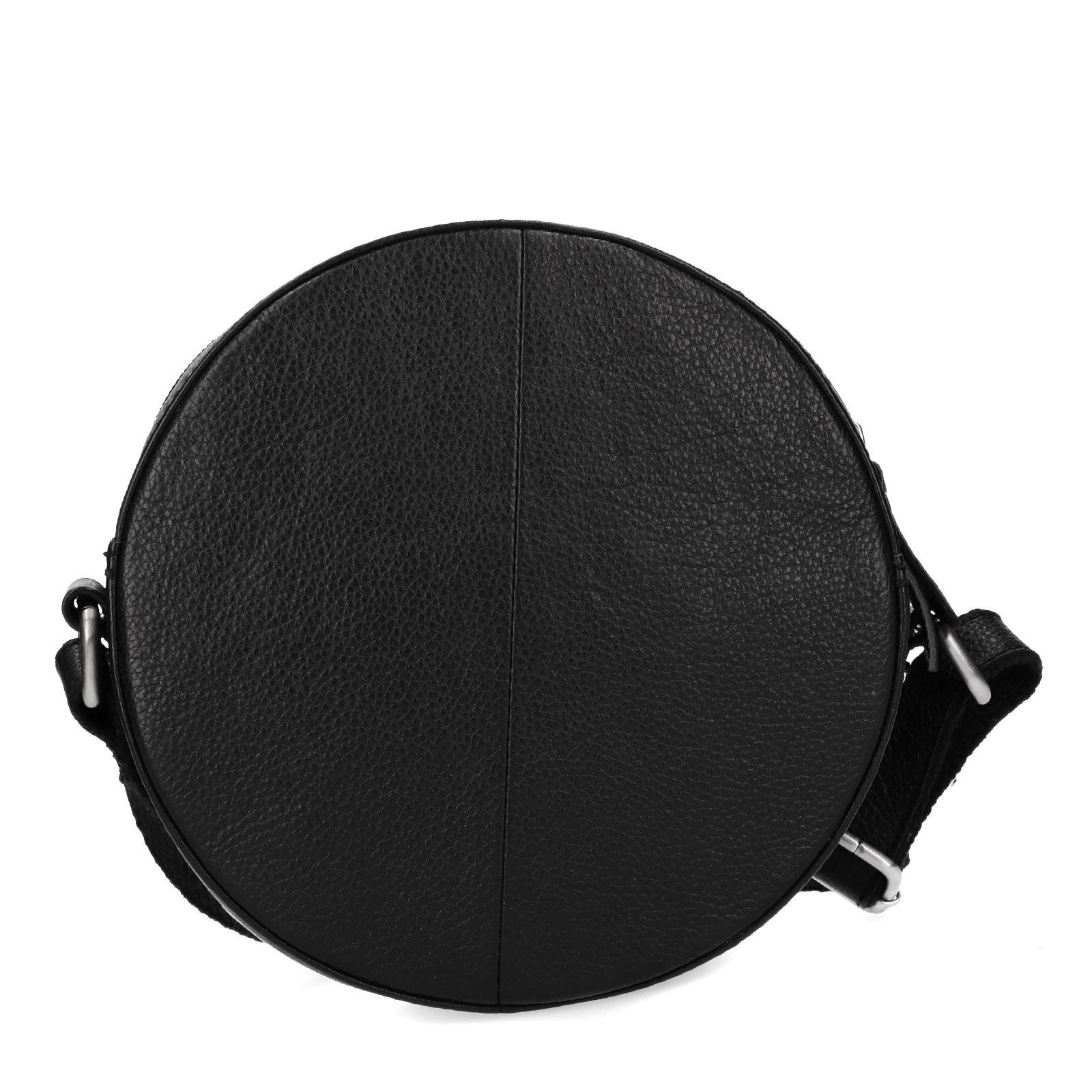 dfeee3746a0 Manfield Zwart rond schoudertasje met studs. sale. prev