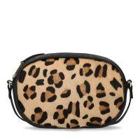 164074918b1 sale Manfield Zwart schoudertasje met panterprint € 49, € 34, Shop nu >