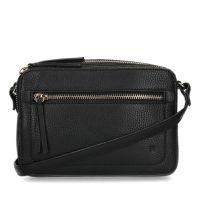 63ca92cfd66 Manfield Zwart schoudertasje van leer € 59, Shop nu >