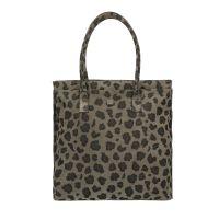 8845b805a3e Manfield Groene suède shopper met luipaard print € 79, Shop nu >