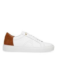 4efbf99b93e Manfield x Annic Sneakers met een bruin suède hielstuk € 99, Shop nu >