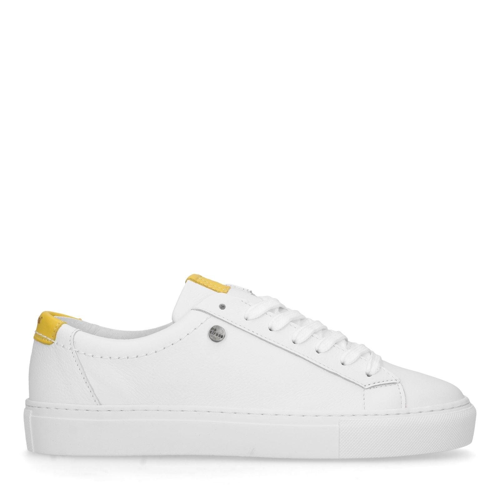 arrives 41558 e4431 Weiße Leder-Sneaker
