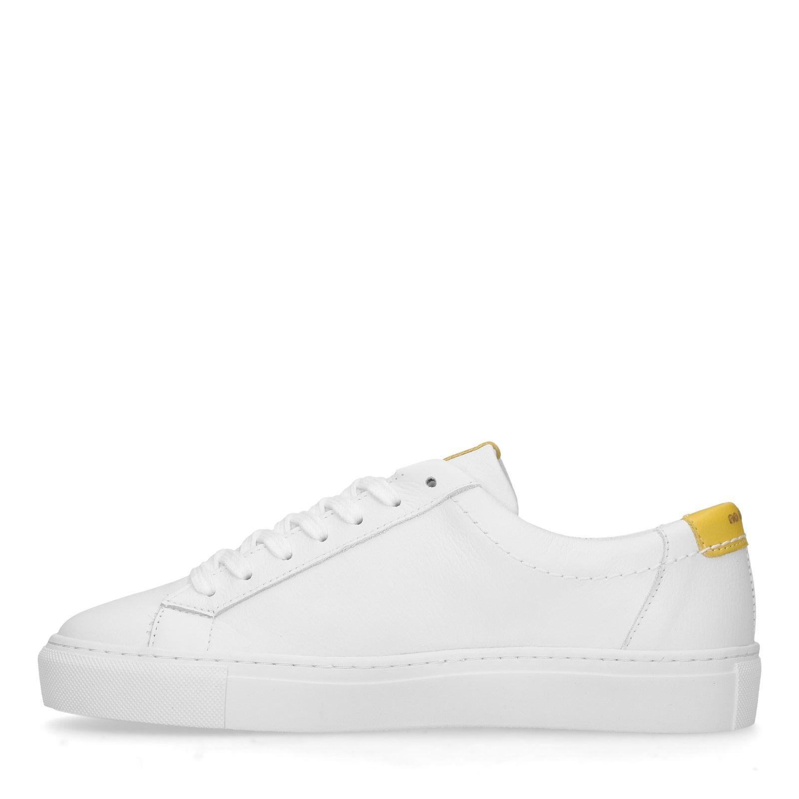 64f12ec396e320 No Stress Weiße Leder-Sneaker