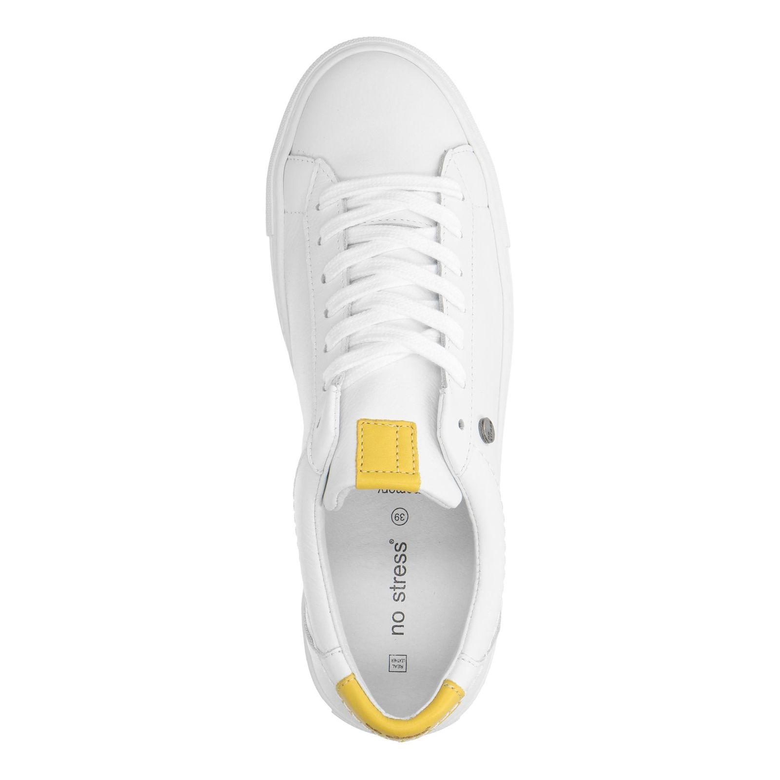 arrives db241 26b76 Weiße Leder-Sneaker