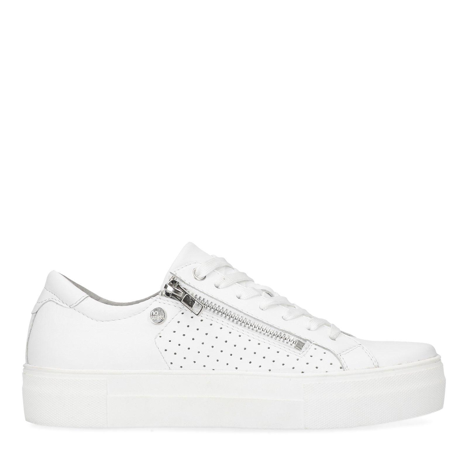 hot sales 9af73 c2146 Weiße Sneaker mit Reißverschluss