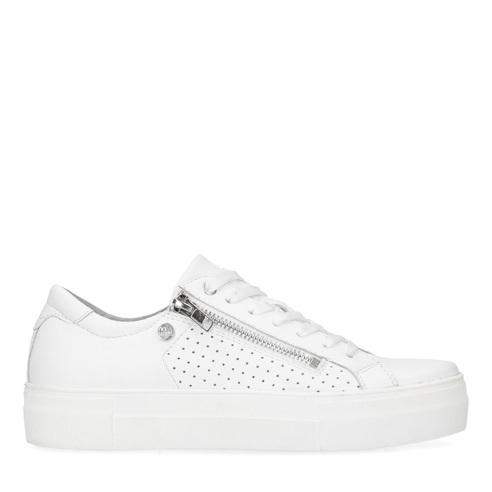 ca1199102e4cb3 Weiße Sneaker mit Reißverschluss