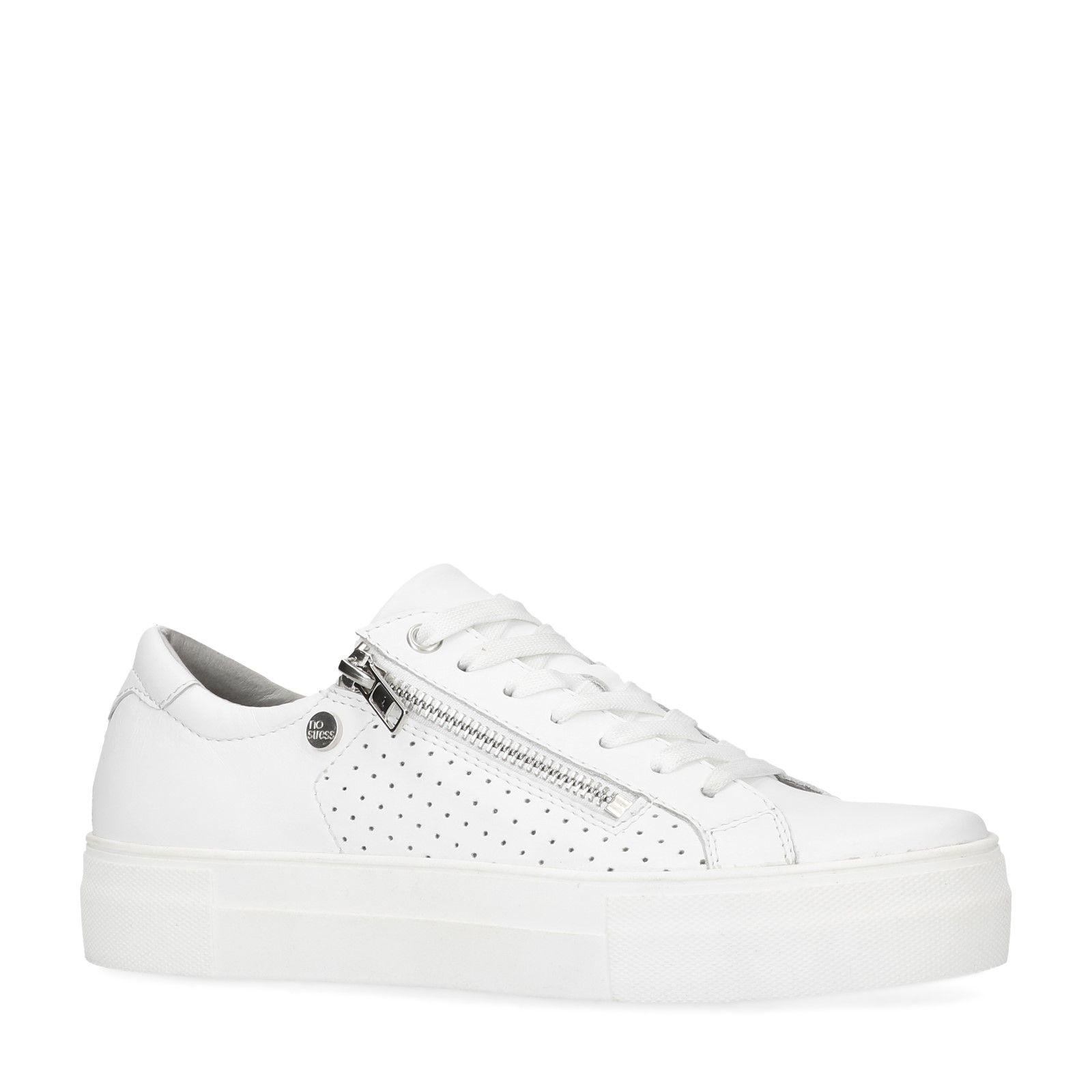 6c8805596a660d No Stress Weiße Sneaker mit Reißverschluss. - 20%. prev