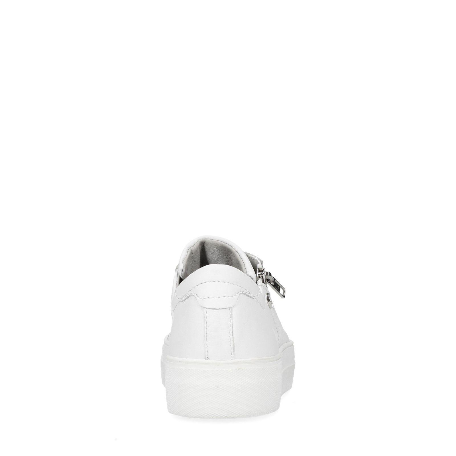 hot sales e8786 176ab Weiße Sneaker mit Reißverschluss