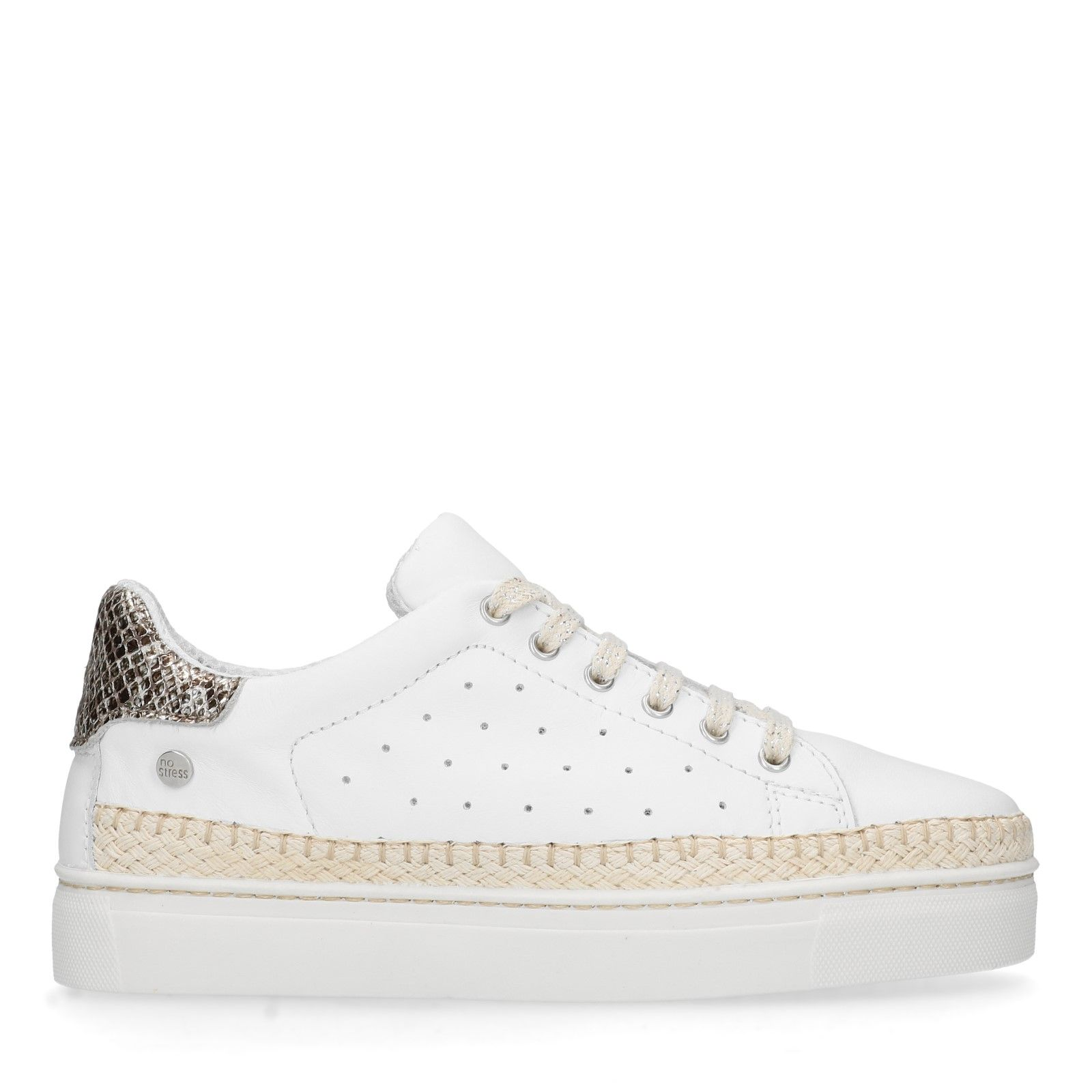 1d9a21cc761d17 Weiße Sneaker mit Kontrast-Details