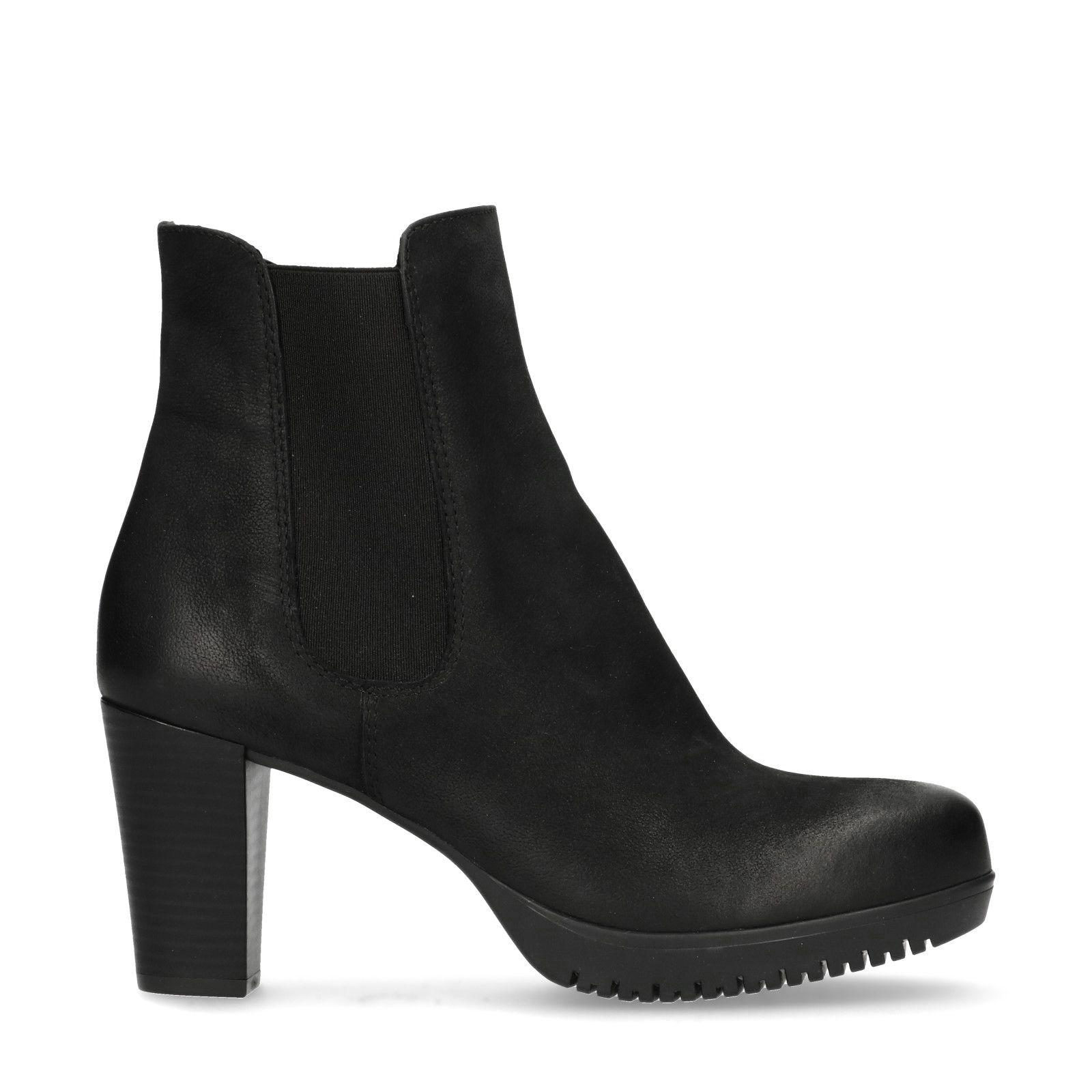 0125d510fd4475 Schwarze Chelsea Boots mit Absatz