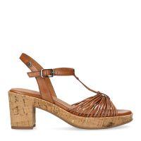 3e84bb9afb4 sale No Stress Cognac sandalen met hak en kurkzool € 79, € 63, Shop nu >