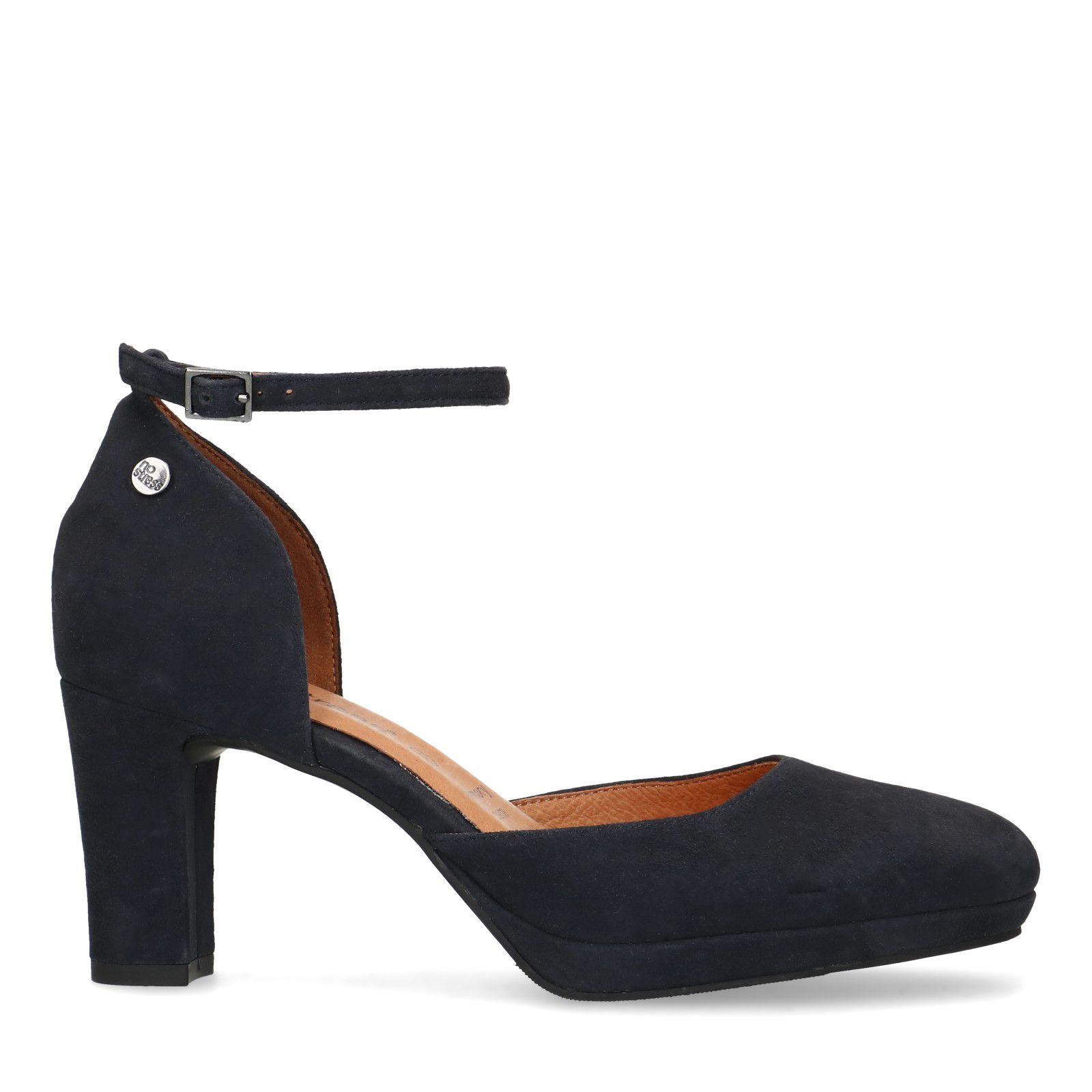 Witte lak sandalen met brede hakken en smal enkelbandje