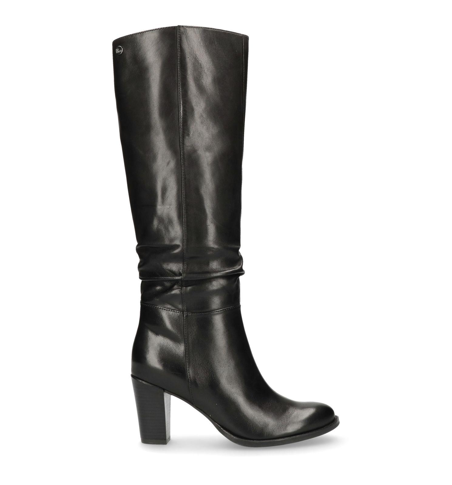Wonderbaar Zwarte hoge laarzen met hak - Dames | MANFIELD GT-67