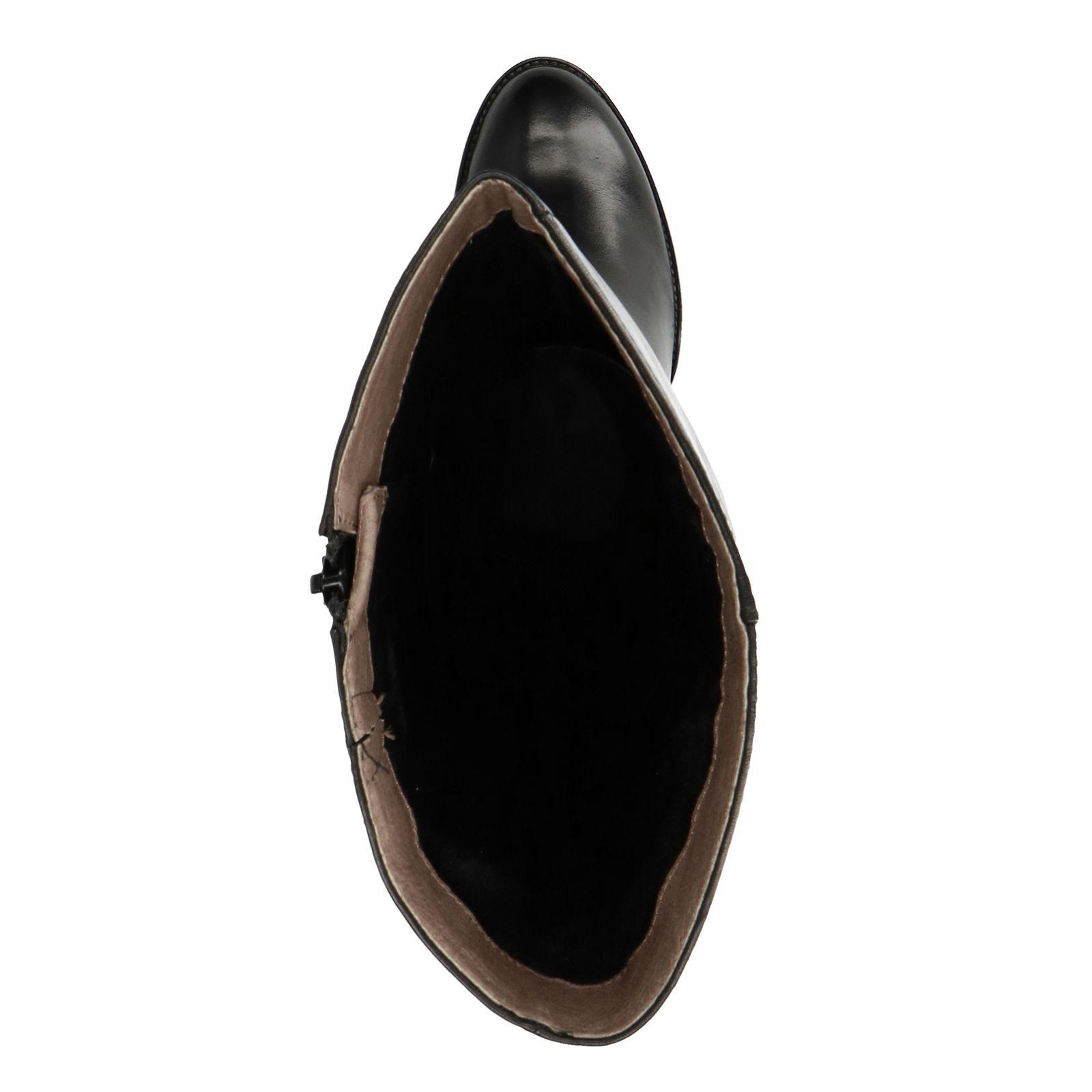 Onwijs Zwarte hoge laarzen met hak - Dames | MANFIELD ZO-89