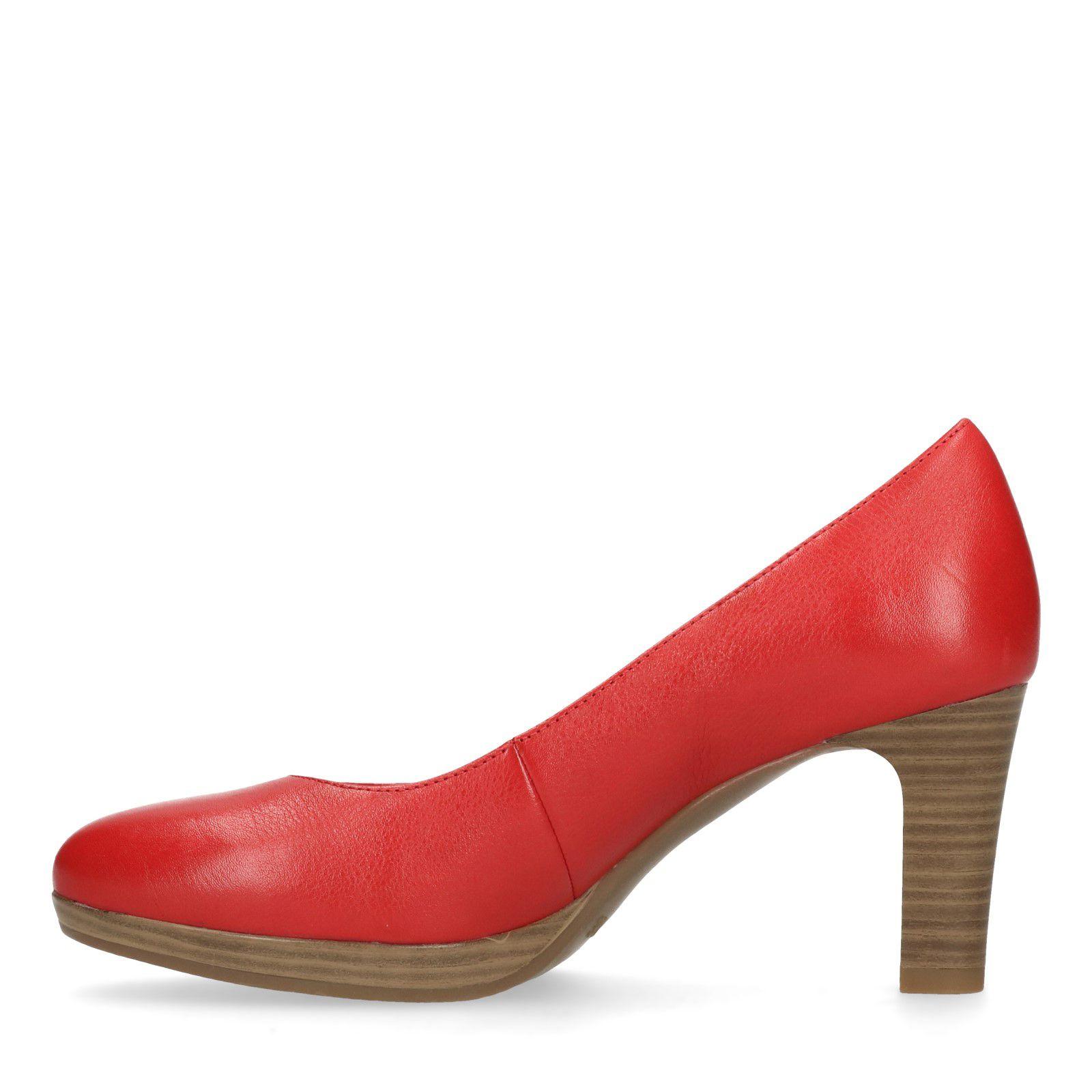 Spiksplinternieuw Leren pumps rood - Dames | MANFIELD ON-54