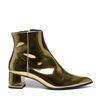 Paco Gil metallic gouden enkellaarsjes met hak
