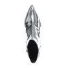 Paco Gil metallic zilveren enkellaarsjes met hak