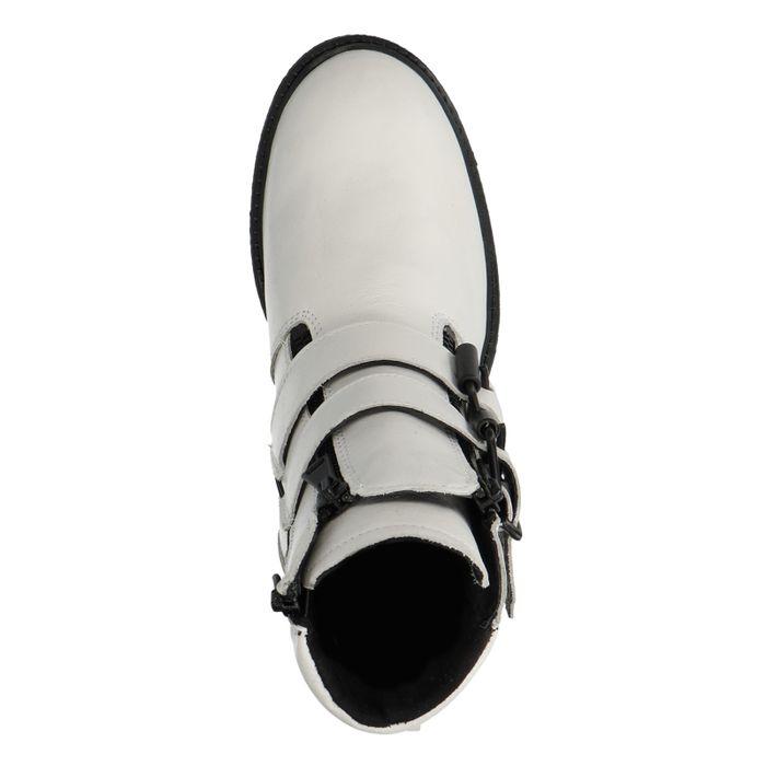 Witte biker boots