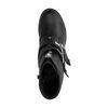 Zwarte enkellaarsjes met gespen en rits