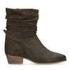 Bottines en daim marron