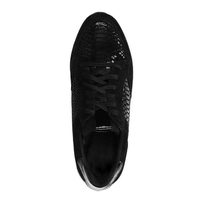 Baskets à plateforme avec motif peau de serpent - noir