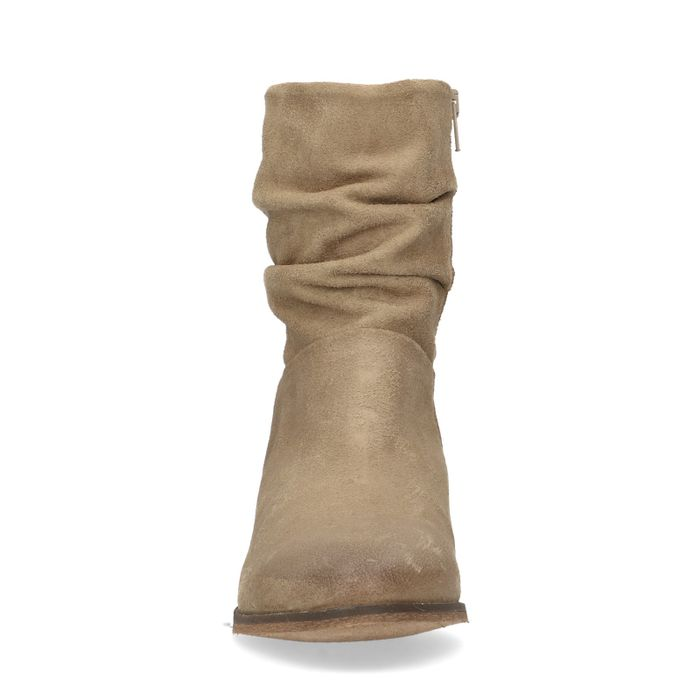 Bottines en daim taupe