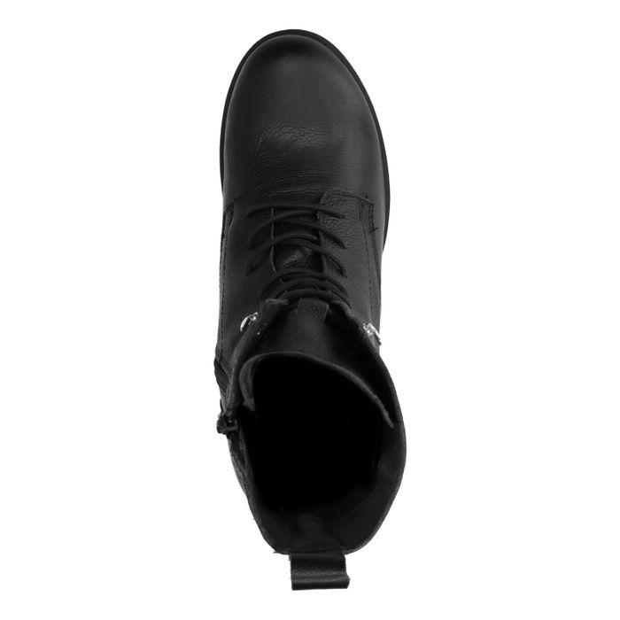 Hohe schwarze Schnürstiefeletten