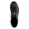 Schwarze Stiefeletten mit Reißverschluss