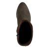 Braune Veloursleder-Stiefeletten